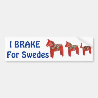 Autocollant De Voiture Scandinave de cheval de Dala de Suédois