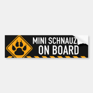 Autocollant De Voiture Schnauzer miniature à bord