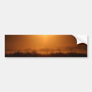 Autocollant De Voiture Scottsbluff Nébraska cultivant le coucher du