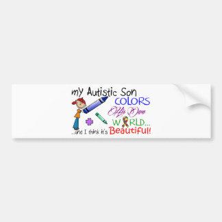 Autocollant De Voiture Sensibilisation sur l'autisme - fils