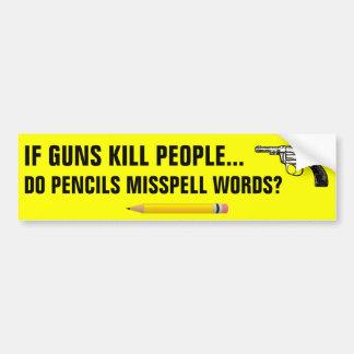 Autocollant De Voiture Si les personnes de mise à mort d'armes à feu font