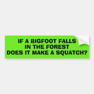 Autocollant De Voiture Si un Bigfoot tombe dans la forêt ?
