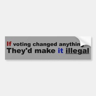 Autocollant De Voiture Si vote changé quelque chose