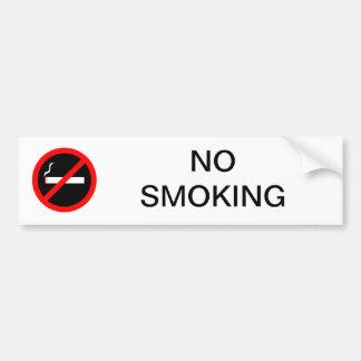 AUTOCOLLANT DE VOITURE SIGNE NON-FUMEURS