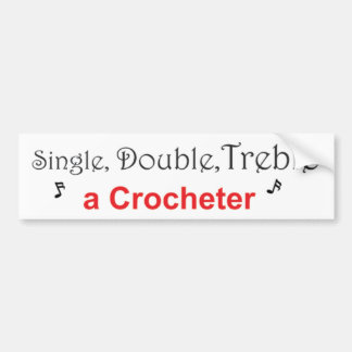 Autocollant De Voiture Simple, double, triplez un Crocheter