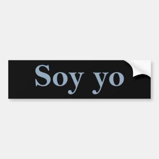 Autocollant De Voiture Soja Yo (je suis je)