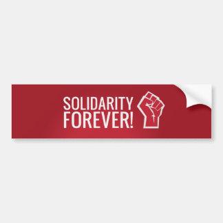 Autocollant De Voiture Solidarité pour toujours !