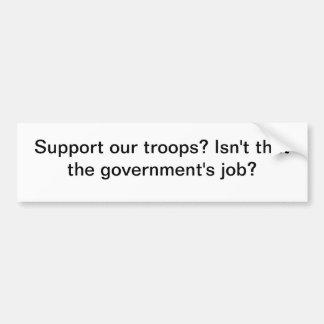 Autocollant De Voiture Soutenez nos troupes ?