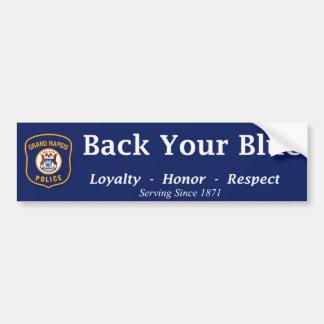 Autocollant De Voiture Soutenez votre bleu - GRPD