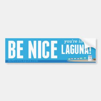 Autocollant De Voiture Soyez Nice vous sont à Laguna - adhésif pour