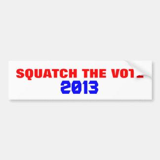Autocollant De Voiture Squatch le vote 20 ? ? Campagne électorale