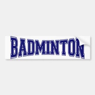 Autocollant De Voiture Style d'université de badminton