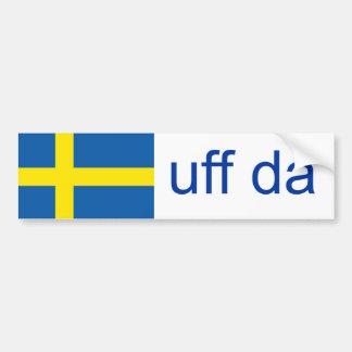Autocollant De Voiture Suédois drôle d'Uff DA Suède