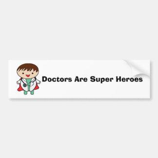 Autocollant De Voiture Superhéros de médecins Are personnalisables