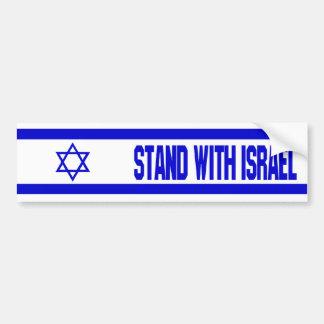 Autocollant De Voiture Support avec l'Israël