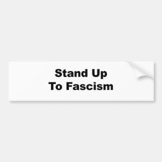 Autocollant De Voiture Support jusqu'au fascisme