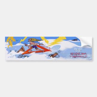 Autocollant De Voiture Surfez le bumpersticker de triangle des Bermudes