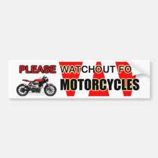 Autocollant De Voiture Svp Watchout observent pour des motards de motos