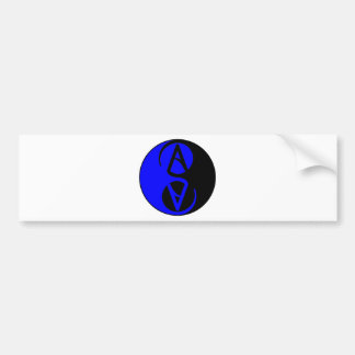 Autocollant De Voiture Symbole d'athée de Yin Yang