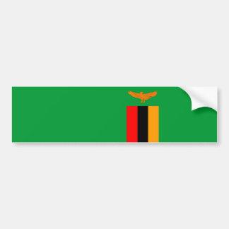 Autocollant De Voiture symbole de nation de drapeau de pays de la Zambie