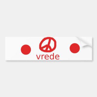 Autocollant De Voiture Symbole de paix d'Afrkaans Afrique du Sud