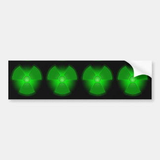 Autocollant De Voiture Symbole rougeoyant vert drôle de radioactivité