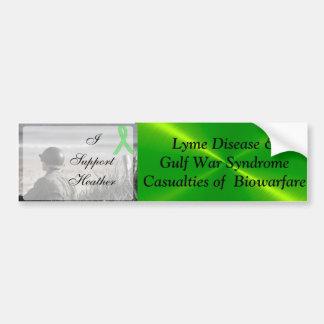 Autocollant De Voiture Syndrome de guerre de Golfe de la maladie de Lyme,