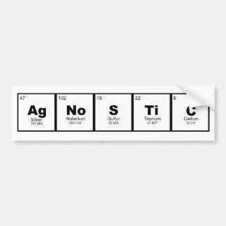 Autocollant De Voiture Table perodic agnostique d'amants de la Science