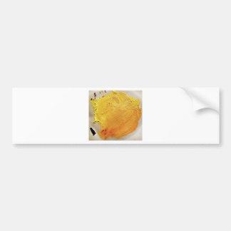 Autocollant De Voiture Tache jaune de peinture de texture
