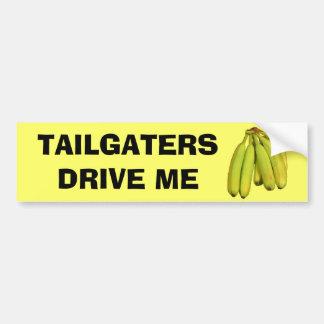 Autocollant De Voiture Tailgaters me conduisent des bananes