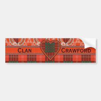 Autocollant De Voiture Tartan d'écossais de plaid de clan de Crawford