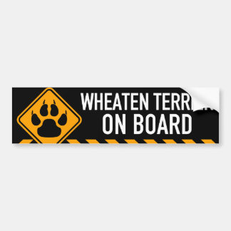Autocollant De Voiture Terrier blond comme les blés à bord