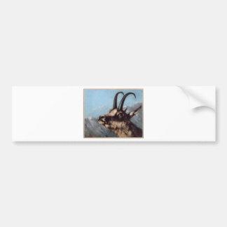 Autocollant De Voiture Tête de gazelle par Gustave Courbet
