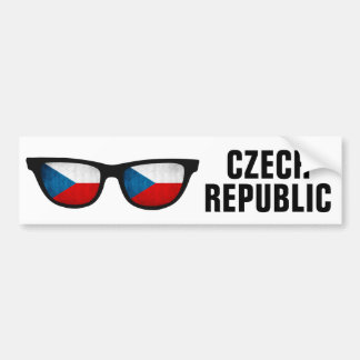 Autocollant De Voiture Texte de nuances tchèques et bumpersticker faits