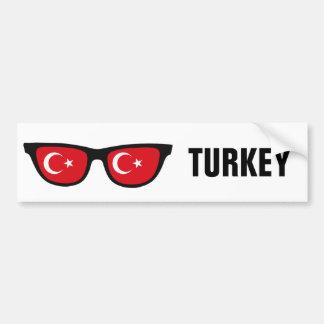 Autocollant De Voiture Texte de nuances turques et bumpersticker faits