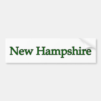 Autocollant De Voiture Texte du New Hampshire