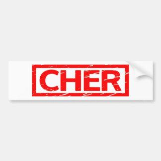 Autocollant De Voiture Timbre de Cher