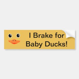 Autocollant De Voiture Tout est canard mignon de bébé