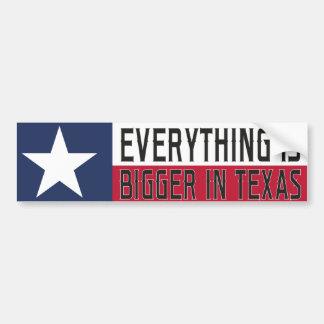 Autocollant De Voiture Tout est plus grand dans le Texas