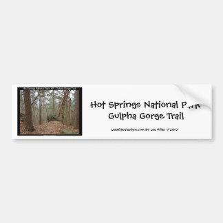 Autocollant De Voiture Traînée de gorge de Gulpha de parc national de Hot