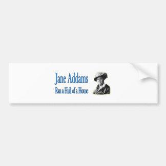 Autocollant De Voiture Travail social : Jane Addams a couru une coque