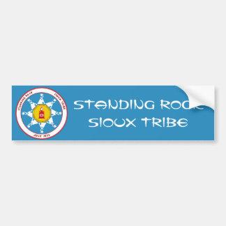 Autocollant De Voiture Tribu debout de Sioux de roche