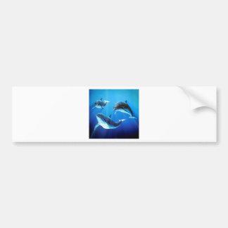 Autocollant De Voiture Trio de dauphins
