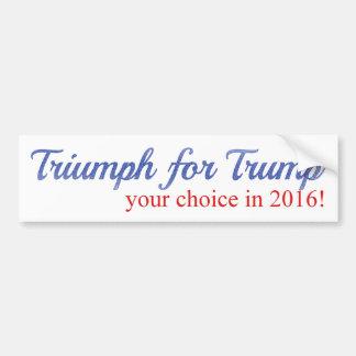 Autocollant De Voiture Triump pour l'atout, votre choix en 2016
