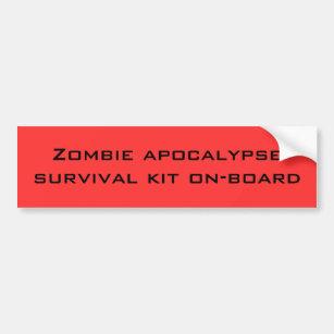 Autocollant De Voiture Trousse de survie d'apocalypse de zombi intégrée