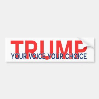 Autocollant De Voiture Trump votre voix votre choix