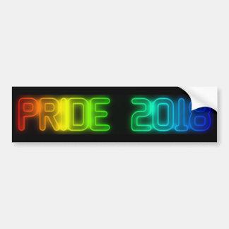 Autocollant De Voiture Typographie 2018 du drapeau LGBT d'arc-en-ciel de