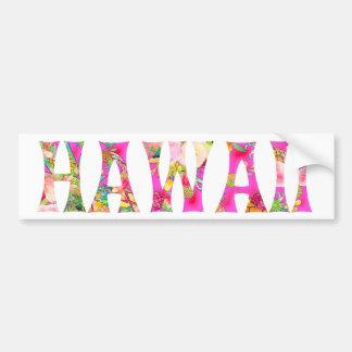 Autocollant De Voiture Typographie de PixDezines Hawaï Tiki