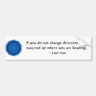 Autocollant De Voiture Tzu inspiré de motivation du Laotien de citation