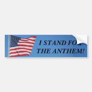 Autocollant De Voiture U.S.A. Support du drapeau I pour l'hymne